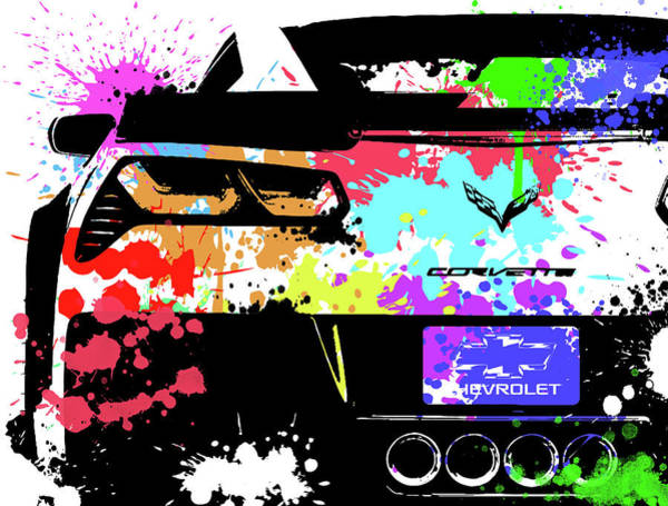 Wall Art - Digital Art - Corvette Pop Art 1 by Ricky Barnard