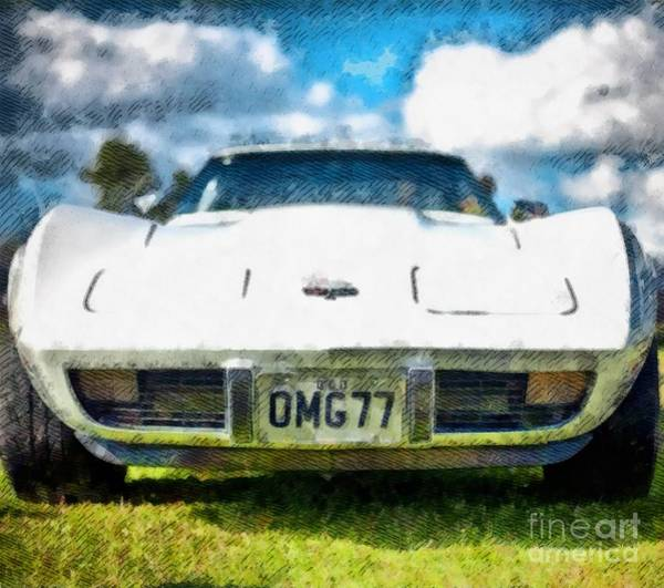 Maserati Painting - Corvette Pop Art by John Springfield