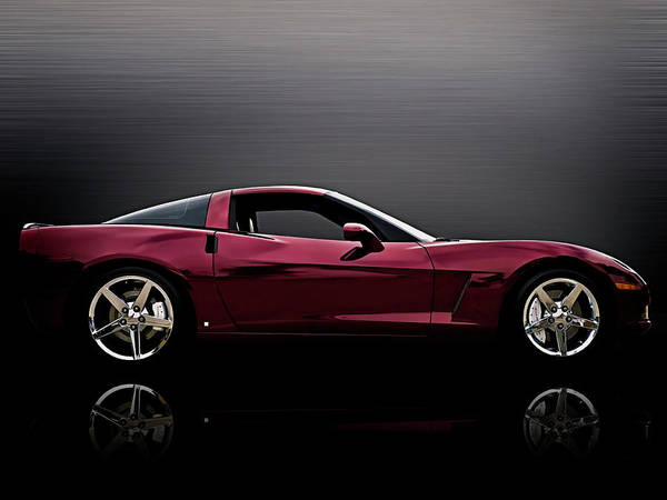 Wall Art - Digital Art - Corvette Reflections by Douglas Pittman