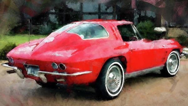 Painting - Corvette Stingray - 02 by Andrea Mazzocchetti