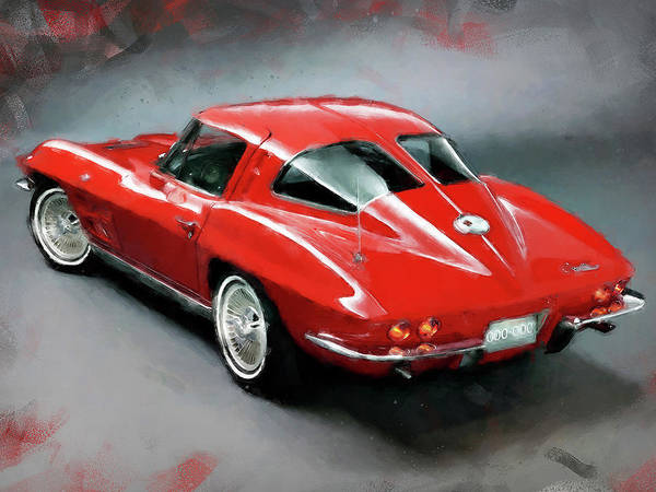 Painting - Corvette Stingray - 03 by Andrea Mazzocchetti