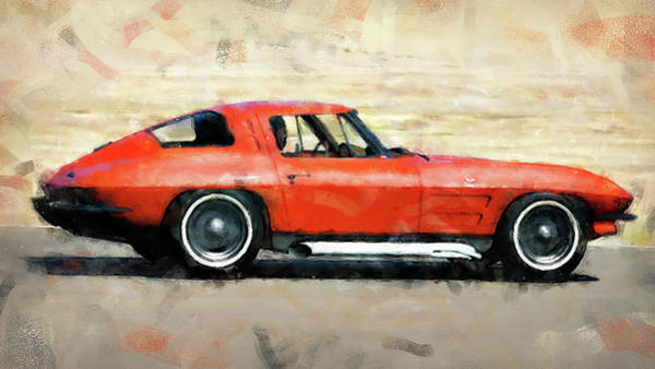 Painting - Corvette Stingray - 05 by Andrea Mazzocchetti