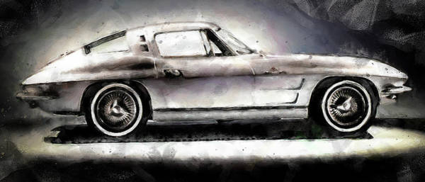 Painting - Corvette Stingray - 10 by Andrea Mazzocchetti
