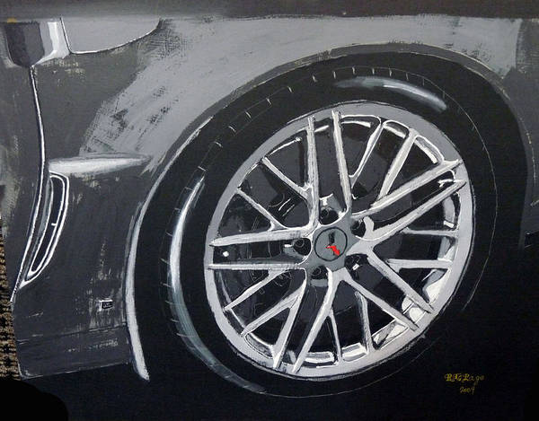 Painting - Corvette Wheel by Richard Le Page