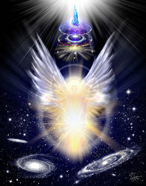 Digital Art - Cosmic Angel by Endre Balogh