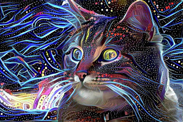 Digital Art - Cosmic At Night by Peggy Collins