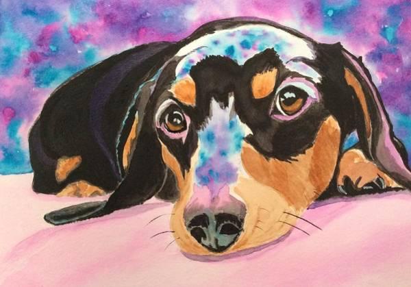 Painting - Cosmic Doxie by Sonja Jones