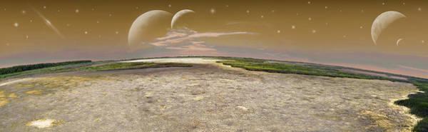 Merge Digital Art - Cosmic Fantasy - Pano by Brian Wallace