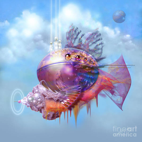 Cosmic Fish Spaceship Art Print