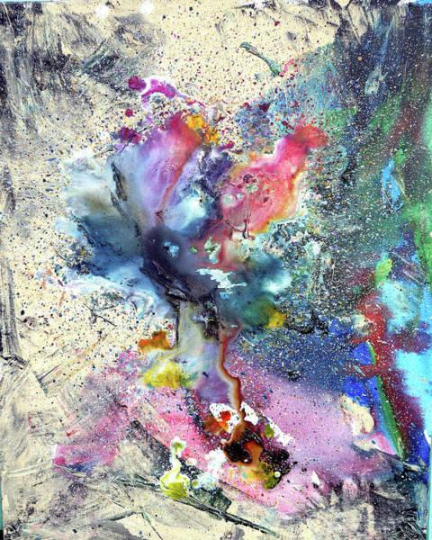 Wall Art - Painting - Cosmic Flower by Lisa Lipsett