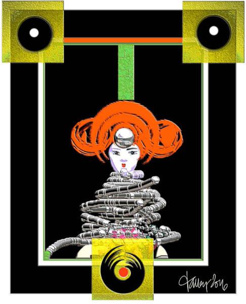 Digital Art - Cosmic Geisha - Close Encounter by Larry Talley