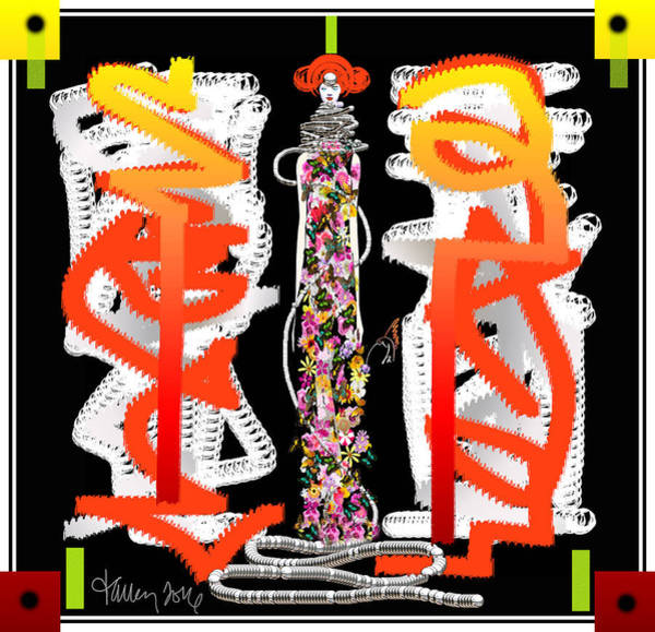 Cosmic Geisha - Dimension Hopping Art Print