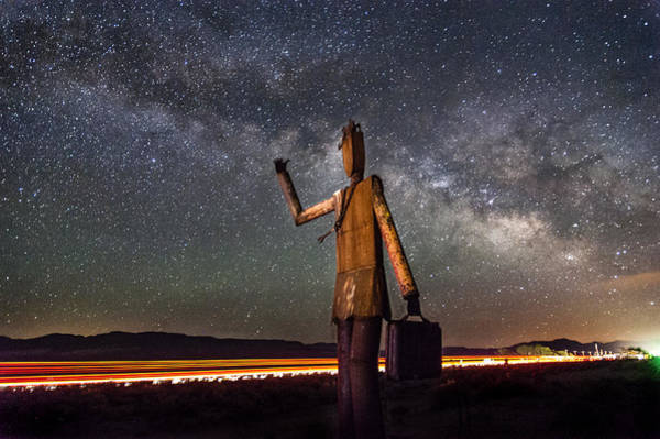 Wall Art - Photograph - Cosmic Hitchhiker by Cat Connor