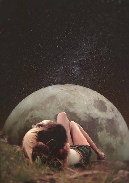 Hippy Digital Art - Cosmic Love by Fran Rodriguez