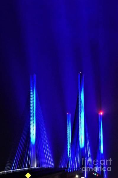 Photograph - Blue Light Rays - Indian River Inlet Bridge by Kim Bemis