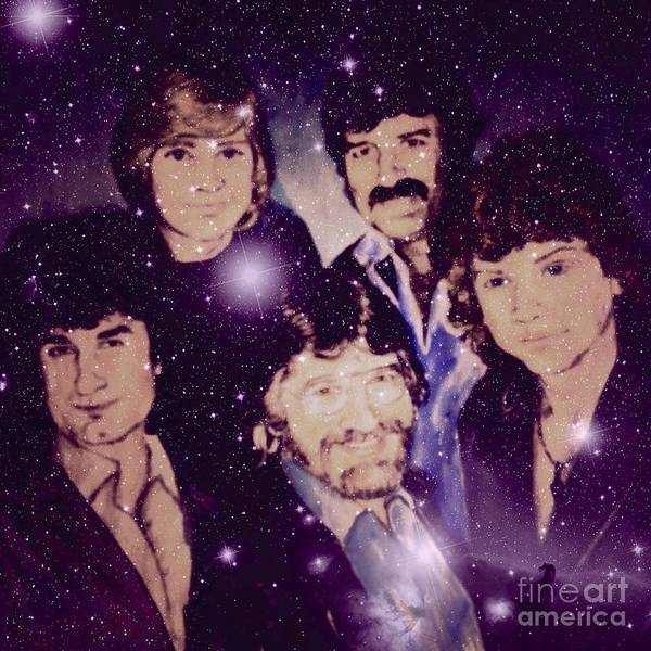 Classic Rock Mixed Media - Cosmic Rockers by Joan-Violet Stretch