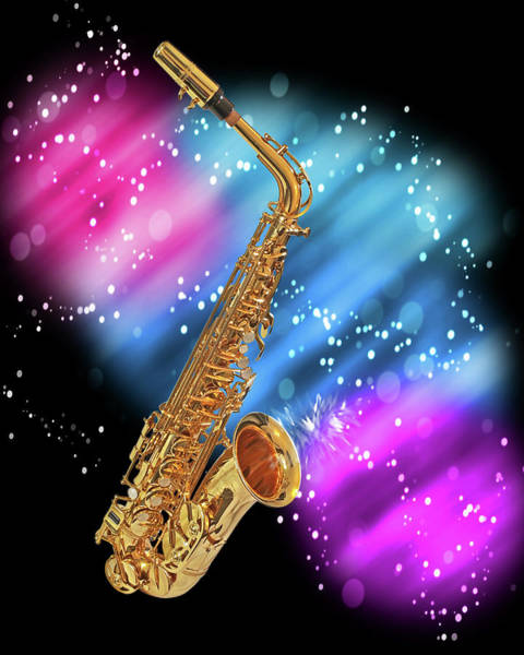 Photograph - Cosmic Sax by Gill Billington
