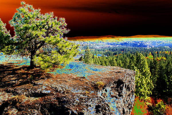 Cosmic Spokane Rimrock Art Print