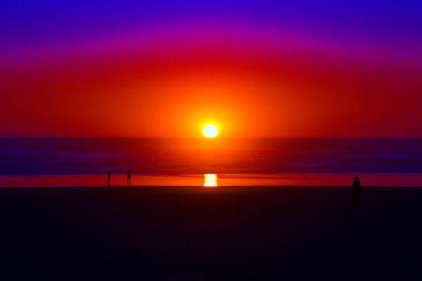 Photograph - Cosmic Sunset At Rockaway  by Ben Upham III