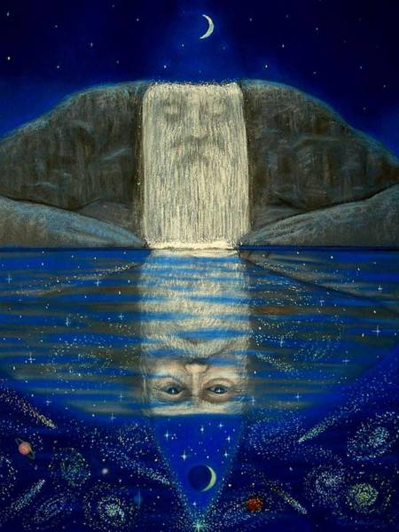 Cosmic Painting - Cosmic Wizard Reflection by Sue Halstenberg