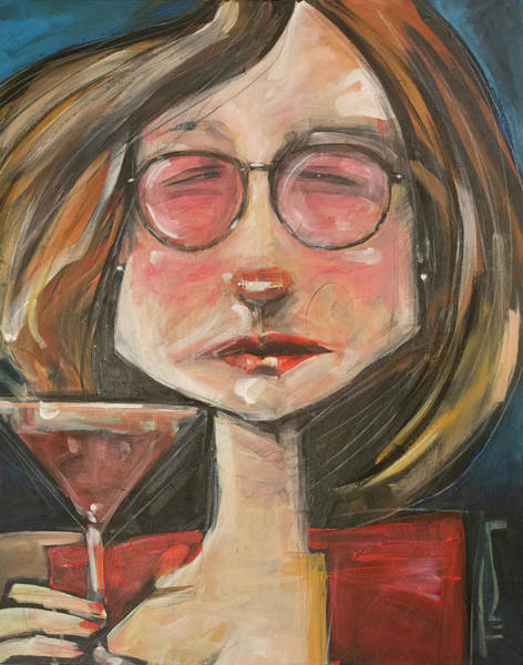 Painting - Cosmo With Rose-colored Glasses by Tim Nyberg