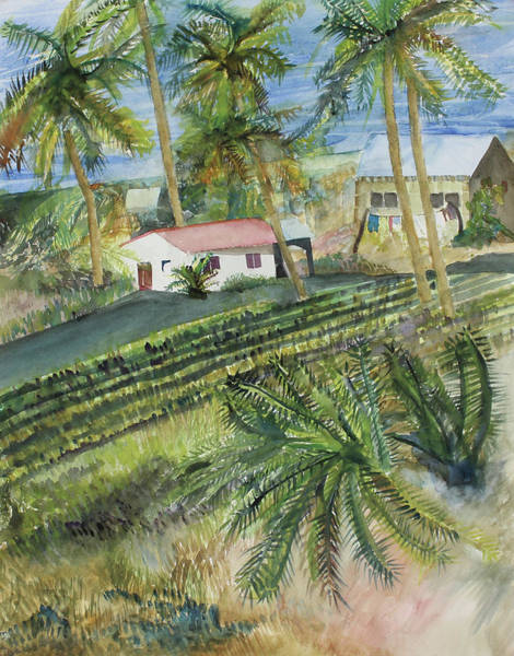 Wall Art - Painting - Costa Rica Home by Janice Buehring