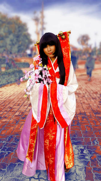 Cosplay Photograph - Costume Of Japan by Ian Gledhill
