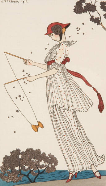 Wall Art - Painting - Costumes Parisiens by Georges Barbier