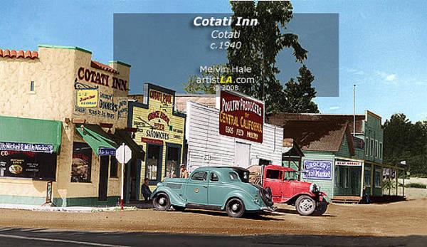 Wall Art - Painting - Cotati Inn C1940 by Melvin Hale