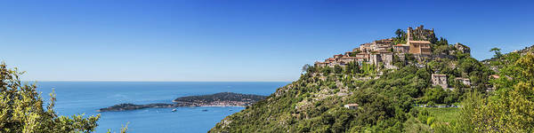 French Riviera Photograph - Cote D'azur Eze And Coastline - Panoramic by Melanie Viola