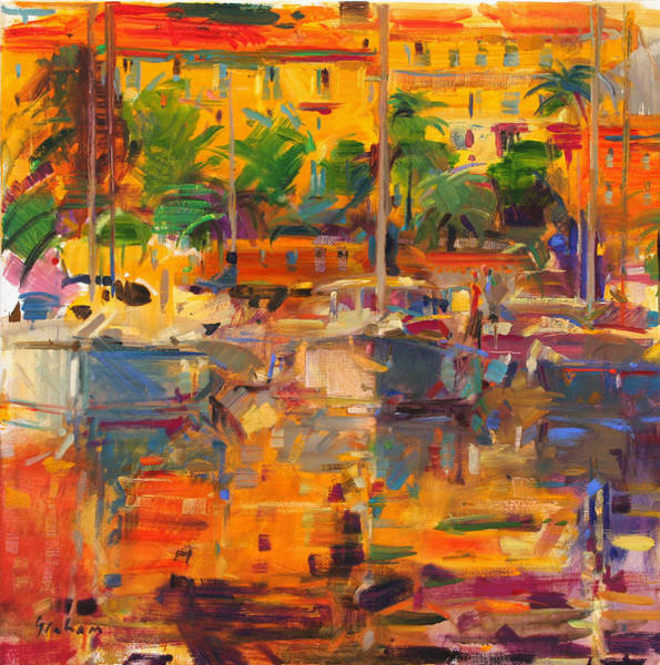 Port Orange Photograph - Cote D'azur Reflections by Peter Graham