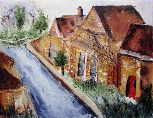 Wall Art - Painting - Cotswold Street by Roxy Rich