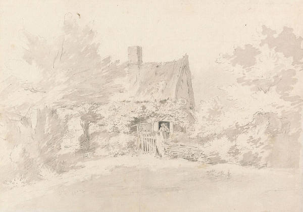 Drawing - Cottage Among Trees by John Constable