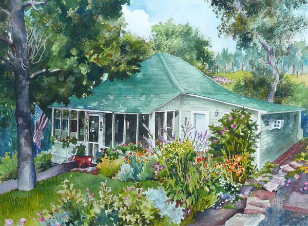Wall Art - Painting - Cottage At Chautauqua by Anne Gifford