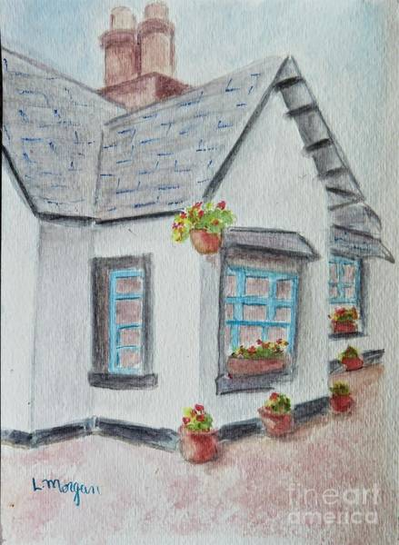 Painting - Thistle Cottage by Laurie Morgan