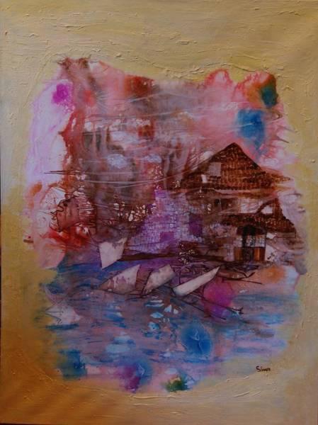 Cottage At The Lake Art Print