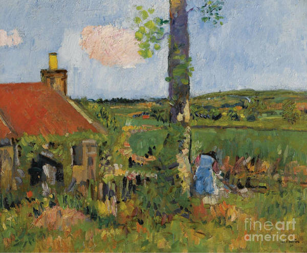 Fife Painting - Cottage Garden, Fife by Celestial Images