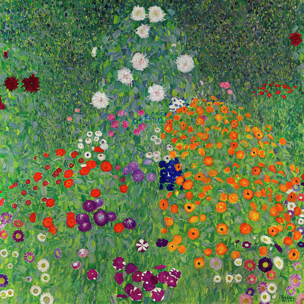 Wall Art - Painting - Cottage Garden by Gustav Klimt