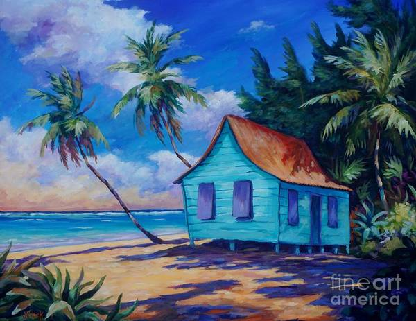 Brac Painting - Beach Cottage by John Clark