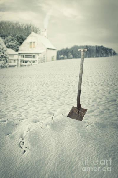 Treeline Photograph - Cottage In Winter  by Amanda Elwell