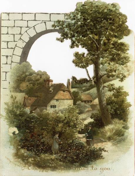 Wall Art - Photograph - Cottage Landscape With Stone Arch by Gillham Studios