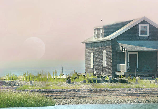 Cottage On The Sound Art Print