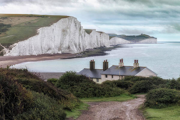 Wall Art - Photograph - Cottages At Seven Sisters - England by Joana Kruse