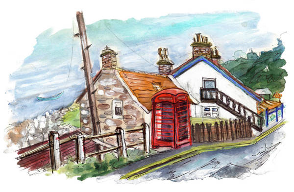 Wall Art - Painting - Cottages In Runswick Bay by Miki De Goodaboom