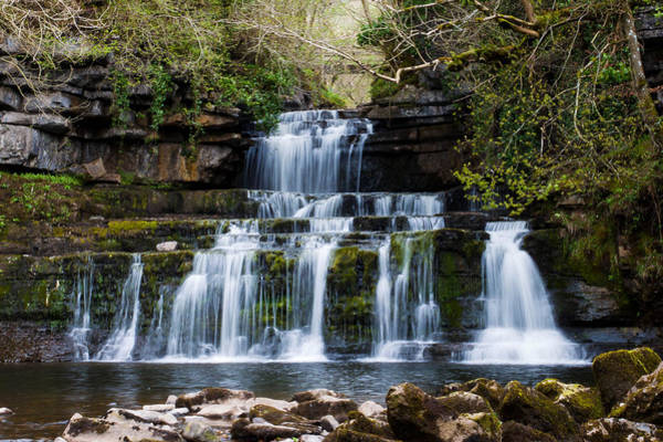 Moving Water Photograph - Cotter Force Waterfall by Chris Dale
