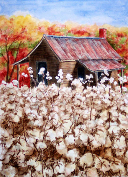 Old Barns Wall Art - Painting - Cotton Barn by Barbel Amos