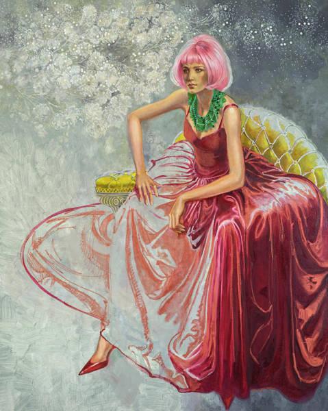 Cotton Candy Art Print by Barbara Tyler Ahlfield