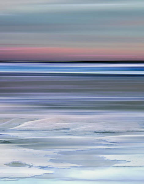 Photograph - Cotton Candy Beach Triptych Center by Evie Carrier