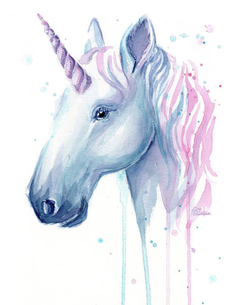 Wall Art - Painting - Cotton Candy Unicorn by Olga Shvartsur