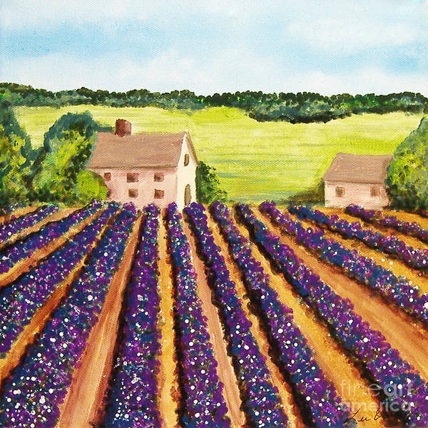 Painting - Cotton Fields by Lee Owenby